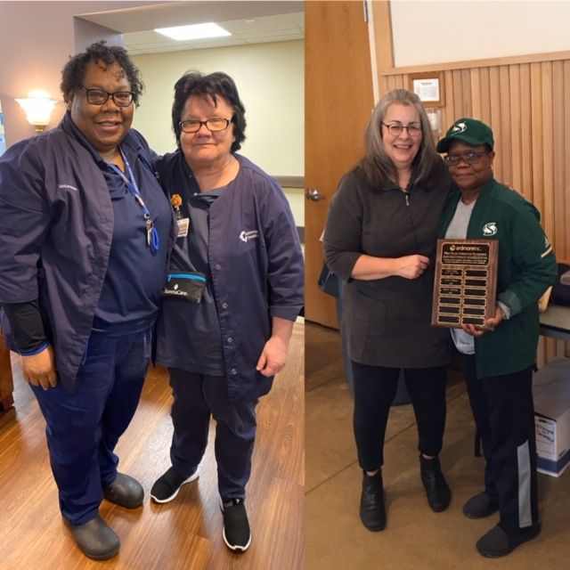 Congratulations to Carla Gibbons  and Gloria Jennings,  who received  the  Mike Trace Award February 14, 2020.